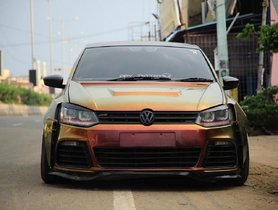 This Modified Volkswagen Polo GT Gets An Insane Paint Job And Wide Body Kit