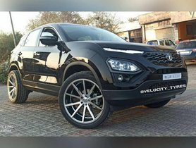 This Tata Harrier Wears Sporty 22-inch Alloy Wheels with Low Profile Tires
