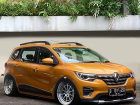 Renault Triber with Custom Rims & Slammed Ride Height Looks Fantastic