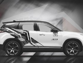 This Tata Harrier Render Gets Eye-Catching New Dual-Tone Wrap Job