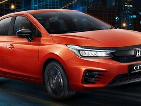 Honda City RS Hatchback Launched in Indonesia, Misses Out on Turbo-petrol Motor