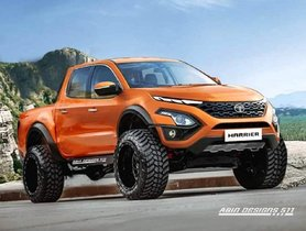 Tata Harrier Reimagined As A Pick-Up, Looks Ready For The Mountains