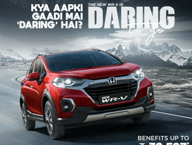 Honda WR-V Offered with Discounts of Upto Rs 32,527