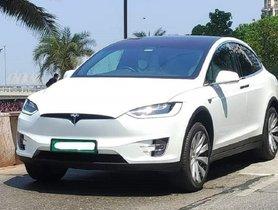 Ambani's Tesla Model X Spotted on Roads