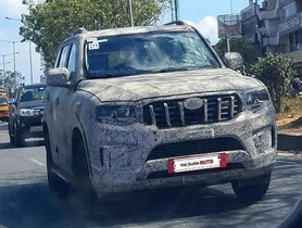 New-gen Mahindra Scorpio Spied Again, While Testing in Production-ready Guise