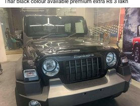 Dealers Charging Premium of Around Rs. 3 Lakh for Mahindra Thar Napoli Black