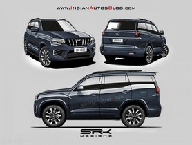New-gen Mahindra Scorpio Front, Side and Rear Rendered