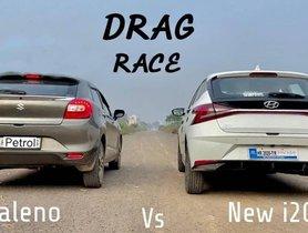 Maruti Baleno VS Hyundai i20 in a Drag Race
