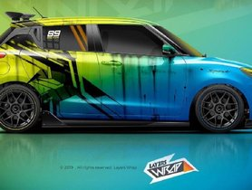Check Out This Maruti Swift With Lurid Dual-Tone Wrap