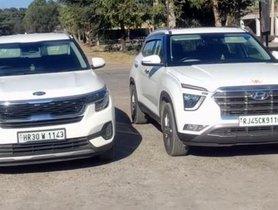 Hyundai Creta VS Kia Seltos in a Drag Race - VIDEO