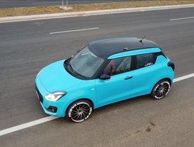 Check Out This Maruti Swift With McLaren Inspired Wrap Job - VIDEO