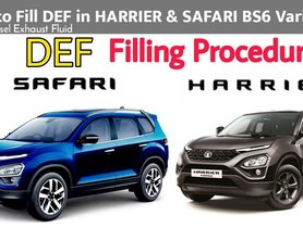 2021 Tata Safari & Harrier - DEF Filling Procedure & Guidelines