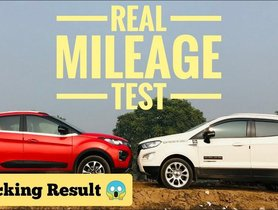 Tata Nexon VS Ford EcoSport Mileage Test