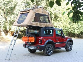 New Mahindra Thar Gets Overland-ready with Custom Hardtop & Rooftop Tent