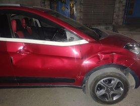 Tata Nexon (5-star NCAP) Has Accident With Truck At 60 Kmph, Nobody Gets Even A Scratch