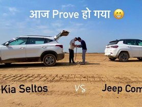 Jeep Compass & Kia Seltos Compete In Tug Of War - VIDEO