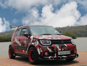 This Maruti Ignis Looks Badass with Red Camo Wrap
