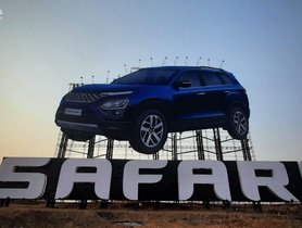 Tata Safari Gets The Biggest Advertising Hoarding In India - VIDEO