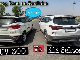 Kia Seltos VS Mahindra XUV300 in a Drag Race
