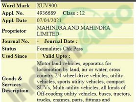 Mahindra Trademarks XUV900 Name For Its Flagship SUV