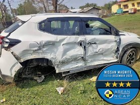 Nissan Magnite (4-star ANCAP) Collides With Tata Zest (4-star GNCAP), All Safe