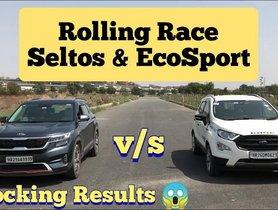 Ford EcoSport VS Kia Seltos in a Drag Race