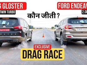 MG Gloster VS Ford Endeavour in a Drag Race
