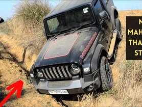 New Mahindra Thar Gets Stuck Off Road, Rescued by Toyota Fortuner