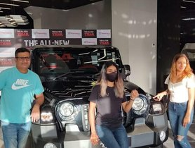 Cricketer Shubman Gill's Family Receives Mahindra Thar on His Behalf