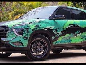 Hyundai Creta Inspired from Avengers Superhero Hulk