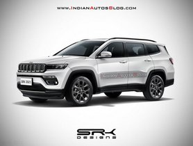 Upcoming 7-seater Jeep Compass Digitally Rendered