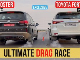Toyota Fortuner VS MG Gloster in a Drag Race