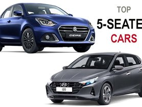 Best 5-Seater Cars in India Under 10 Lakhs - Hyundai i20 to Maruti Dzire