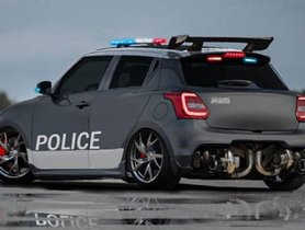 Here's A Maruti Swift Re-Imagined As A Cop Car