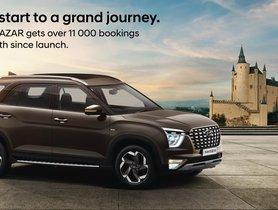 Over 11,000 Hyundai Alcazar SUVs Booked in Under a Month