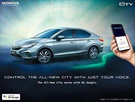 Honda Cars India Adds Google Assistant in 5th-Gen Honda City