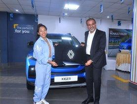 Renault India Gifts Kiger to Tokyo Olympics Silver Medalist Saikhom Mirabai Chanu