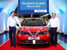 Tata Motors Rolls Out 100,000th Altroz from its Pune Plant