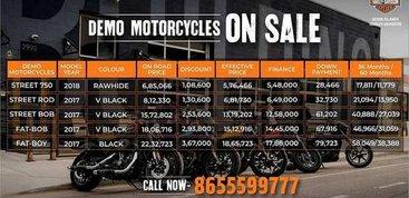 Mumbai Harley-Davidson dealership is selling demo bikes at heavy discounts
