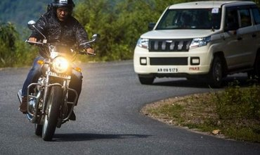 CM of Arunachal Pradesh Spotted On A Royal Enfield Interceptor 650