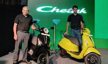 Bajaj Chetak Electric Launched At Rs 1 lakh