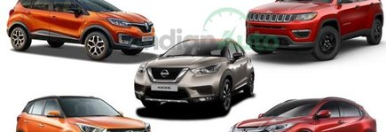 Honda HR-V Vs Hyundai Creta Vs Nissan Kicks Vs Renault Captur Vs Jeep Compass- Spec Comparison
