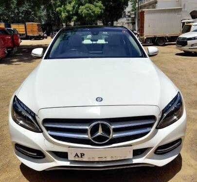 2015 Mercedes Benz C-Class 220 CDI AT for sale in Hyderabad