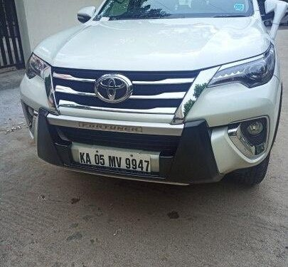 Used Toyota Fortuner 2.8 4WD 2017 MT for sale in Bangalore