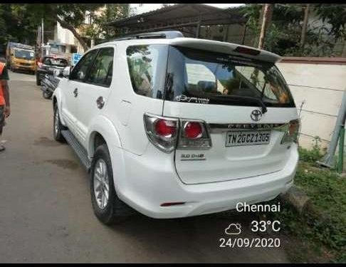 Toyota Fortuner 2012 MT for sale in Chennai