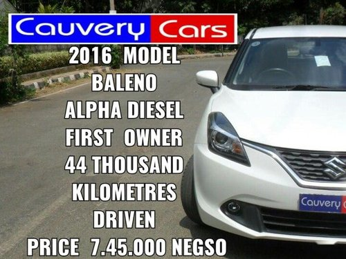 Used 2016 Baleno Alpha  for sale in Bangalore